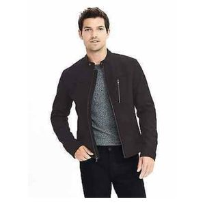Banana Republic mens black rain jacket size S